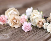Wedding Flower Blush Hair Pin Champagne Wedding Hair Jewelry Bridesmaid Bobby Hair Pick Ivory Wedding Hair Vine Accessories Rose Hair Pieces