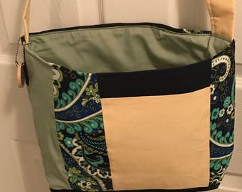 Upcycled crossbody patchwork purse