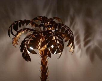 SOLD to Ryan payment 4 of 5 Huge Rare Hans Kogl Golden Palm Tree Floor Lamp 70s Hollywood Regency MCM Koegl