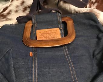 Vintage Levi handbag purse orange tab No.Big E