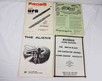 1960s/70s UFO magazine lot Timothy Green Beckley / MIB  /The Aliens / Probe / flying saucers / Muhammad Ali / paranormal / men in black