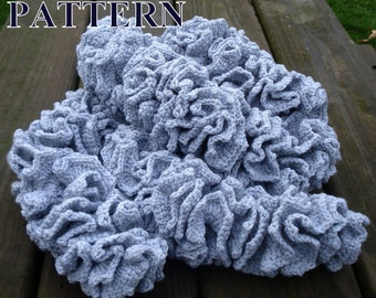 Scarf crochet pattern spiral scarf pattern crochet scarf patterns crochet ruffle scarf crochet pattern scarf Olga Andrew Designs Pattern080