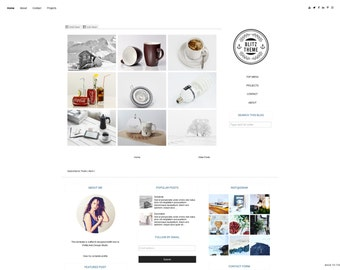 Blogger Template Grid Responsive, Blogger, Blogspot template, Blog Board - Premade blogger theme -  FULL-RESPONSIVE - Instant Download