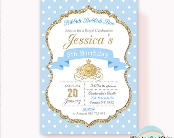 Cinderella Invitation, Cinderella Birthday Party invitation, Princess Birthday Party, Princess Invitation, Digital Printable Invitation