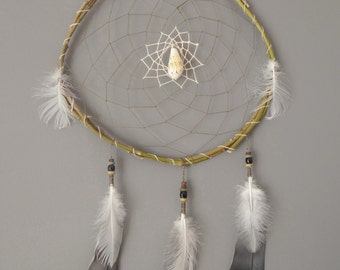 dream catcher wood and shell