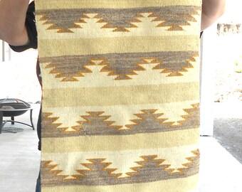 Vintage Navajo Handmade Chinle Style Rug Natural Vegetal Dyed Wool Navajo Hand Woven Native American Rug