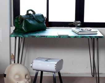 Green Malachite Dining Table - Desk