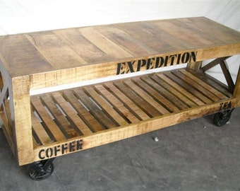Reclaimed wood TV Stand Media Console. Modern Industrial, Vintage Industrial Style