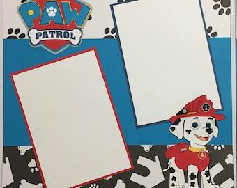 Paw Patrol Birthday premade Scrapbook Page set