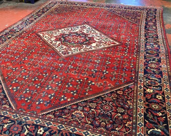 SALE!! Antique Persian Mahal Rug 11'x14' Large & Majestic c.1930