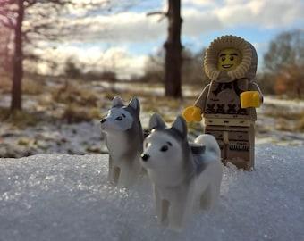 "LEGO Mini Figure Photo Print 4"" by 6"" mounted onto white card."