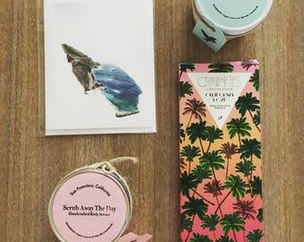 Bridesmaid / mothersday giftset Ocean Breeze & Rose bath salt body scrub