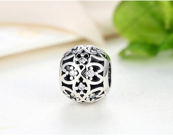 Sterling 925 silver charm bead  fits pandora charms and European bracelet