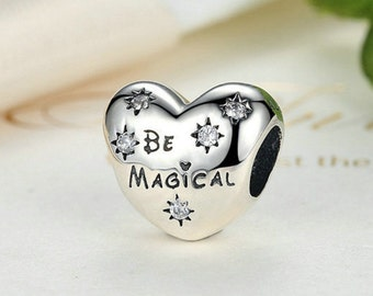 Sterling 925 silver charm be magical bead pendant fits Pandora charm and European charm bracelet