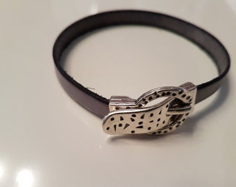 Leather Bracelet with clasp buckle LB10-36