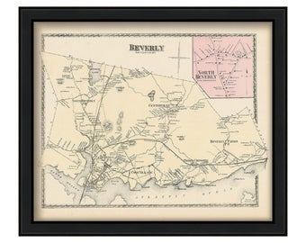 Town of Beverly 1872 Map