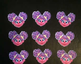 Abby Cadabby or Sesame Street Cut outs (12)
