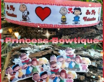 Charlie Brown Valentines ribbon, Valentines ribbon, ribbon, snoopy ribbon,