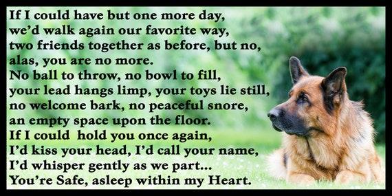 German Shepherd dog Memorial Fridge Magnet pet loss