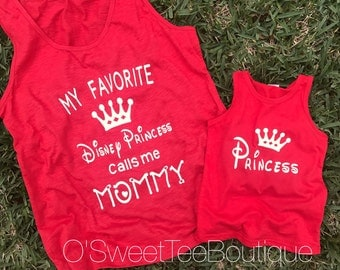 Mommy & Me Matching Shirts/ Disney Princess Shirt/ Matching Tanks/ Mother Daughter/ Mickey