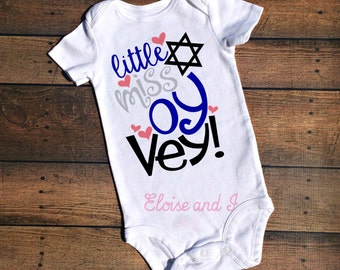 baby's first hanukkah outfit, first chanukah, jewish baby clothes, little miss oy vey, hanukkah shirt, hannukkah baby outfit, holiday baby