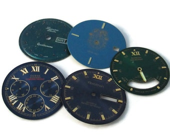 Watch Dials Faces, from wrist watches for Altered Art or Steampunk Supply(#WF18)