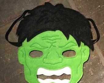 Hulk Full Faced Mask-Hulk Mask-Costume-Hulk Costume-Pretend Play-Hulk Costume-Dress Up