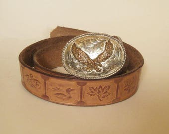 Eagle Vintage Leather Belt Unique