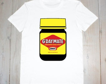 G'Day Mate Vegemite Printed Adult Tee