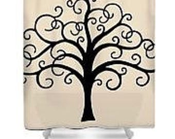 Shower Curtain, Tree of Life, by JA Cahill Art
