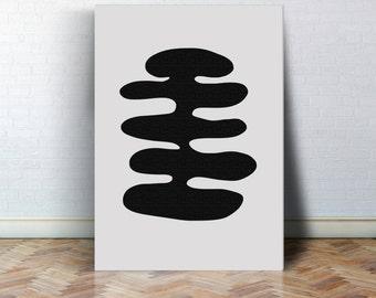 Geometrie Kunst Geometrie Poster Aquarell poster abstraktes Poster Skandinavisches Design, abstrakte Kunst, Nordisches Design, Bild, schwarz