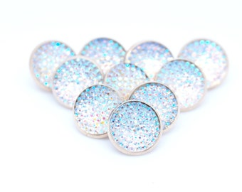 Clothing buttons, Shank buttons, Decorative buttons, Sewing, 10mm diameter, Shiny buttons, Crystal buttons, Bulk Buttons, Small buttons