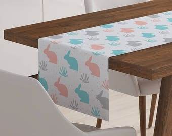 Easter Bunny Table Runner | Bunny Table Runner | Easter Table Topper | Easter Table Decor | Easter Table Linen | Easter Table Decorations