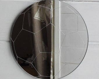 Soccer Ball / Football Engraved Acrylic Mirror
