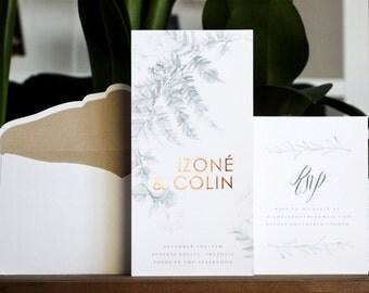 Copper Leaf Invitation