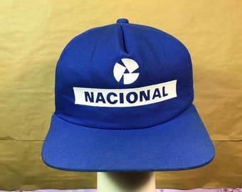 Rare vintage SANTISTA NACIONALE Aryton Senna F1 Racing Cap Made In Brazil