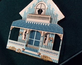 Shelia's Historical Ornament collection- Electric Blue