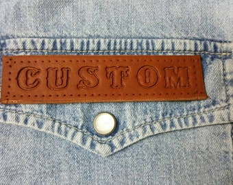 Leather Personalised Custom Name Patch, Any Text Nickname Rank Flash Biker Club Airsoft Military Tactical Paintball Security Motorcycle