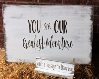 Baby shower guest book alternative - Baby shower decorations - Guestbook for baby shower - Personalized baby sign - Baby shower sign in