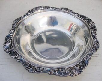 Baroque Silver Bowl, Wallace Baroque Bon Bon Dish, Romantic Decor, Wedding Silver
