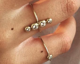 Stellas Ring 14k Gold und Diamanten 0.26ct