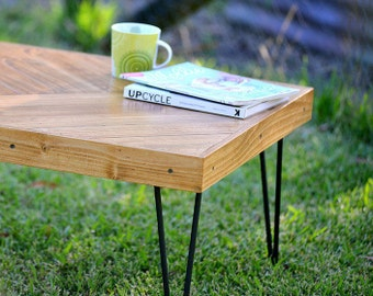 Rustic Coffee Table, Reclaimed Wood Coffee Table, Hair Pin Legs, Recycled Timber Coffee Table, Pallet Coffee Table