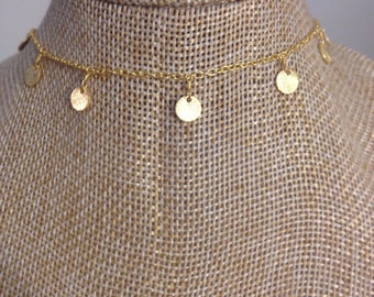 CHOKER With COIN CHARMS