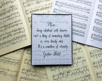 Composer Quote Art Print // Gustav Holst Quote Art Print // Musical Art // Music Teacher Art // Practice Room, Music Room Art / Music Gift