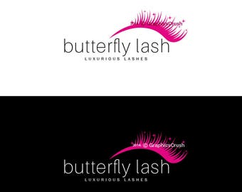 Lashes Logo Eyelashes Logo Pink Lashes Logo Makeup Logo Design Luxurious Logo Design
