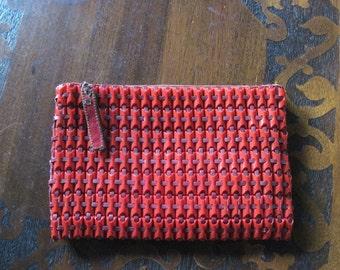 Plasti-Flex Clutch Red Vintage Purse