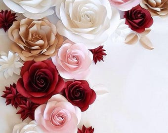 Large Paper Flowers - Wedding Paper Flowers - Paper Flowers - Wedding Flower Wall - Paper Flower Backdrop