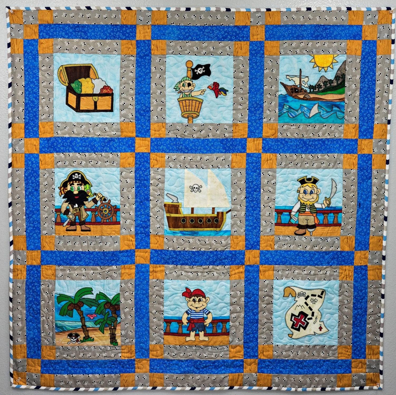 pirate pdf applique quilt pattern paper pieced pirate ship