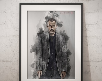Hugh Laurie print House M.D wall art home decor