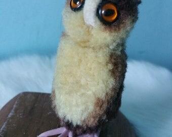 STEIFF pompom miniature OWL! Vintage collectible woolen owl 1970 1980 s